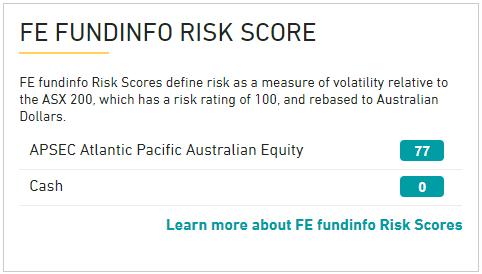 APAEF FE fundinfo risk score