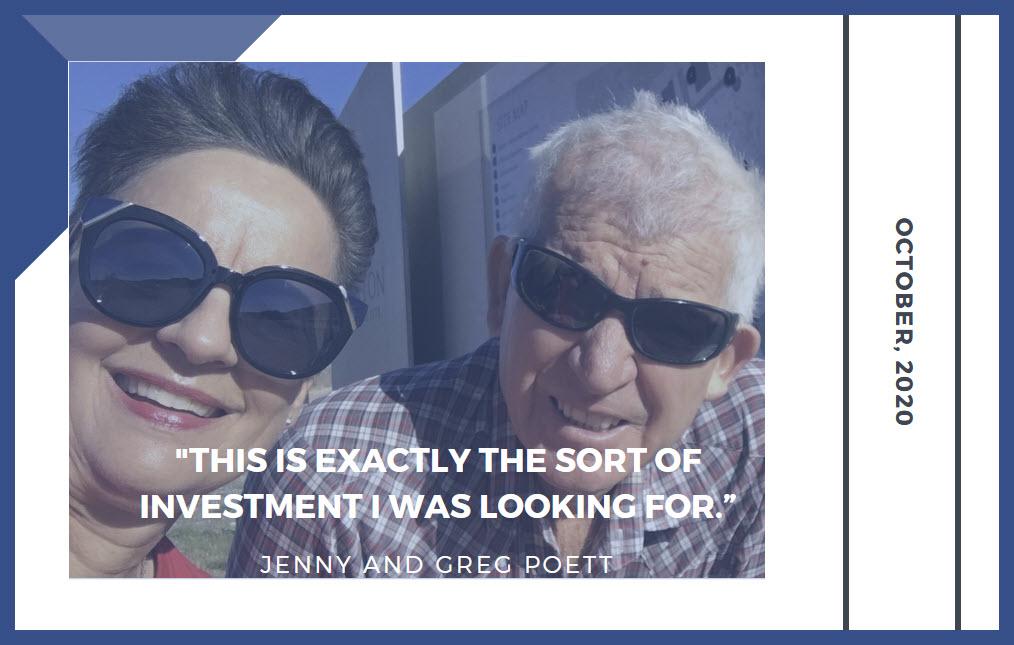 Jenny & Greg Poett photo framed